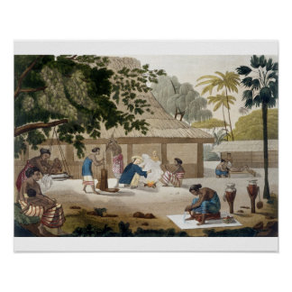 Domestic life in Kupang Timor plate 10 from Le Posters