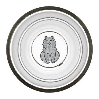 Domestic Longhair Cat Cartoon Pet Bowl