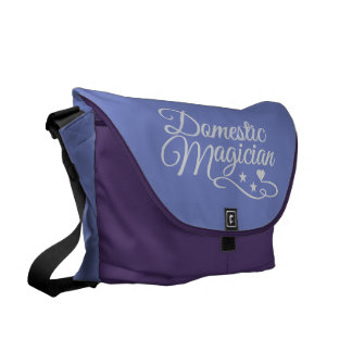 Domestic Magician custom messenger bag