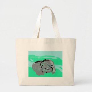 Domestic Not Basic Elvis the Manatee Tote Bag