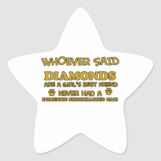 domestic shorthair better than Diamonds Star Sticker