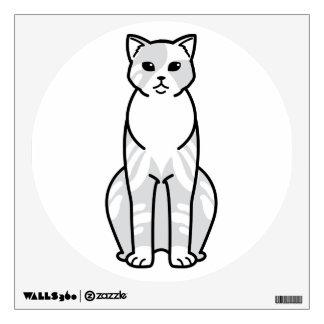 Domestic Shorthair Cat Cartoon Wall Decal