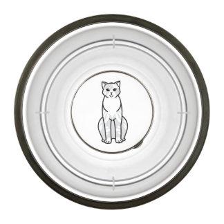 Domestic Shorthair Cat Cartoon Pet Bowl