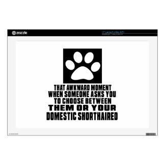 DOMESTIC SHORTHAIRED AWKWARD DESIGNS SKIN FOR LAPTOP