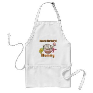 Domestic Shorthaired Cat Mom Adult Apron