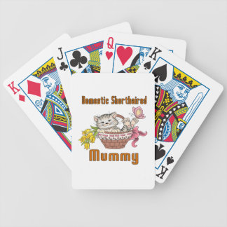 Domestic Shorthaired Cat Mom Bicycle Playing Cards