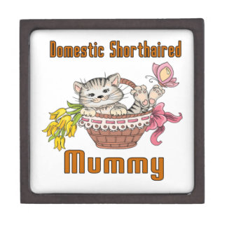 Domestic Shorthaired Cat Mom Jewelry Box