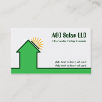 Domestic Solar Energy Panels Business Cards