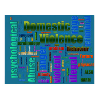Domestic Violence Abuse Related Text Poster