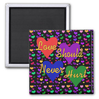 Domestic Violence Awareness 2 Inch Square Magnet