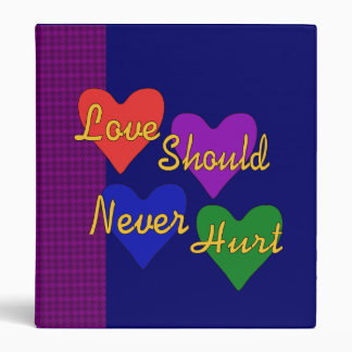 Domestic Violence Awareness 3 Ring Binder
