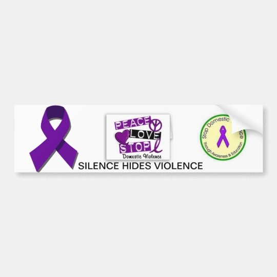 Domestic violence awareness bumper sticker