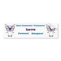 Domestic Violence Awareness Bumper Sticker Car Bumper Sticker