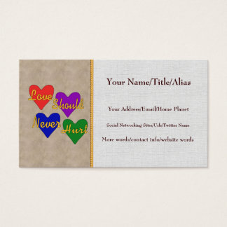 Domestic Violence Awareness Business Card