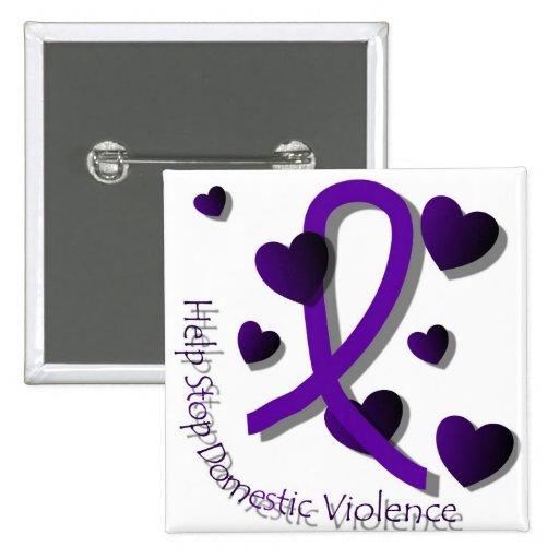 Domestic Violence Awareness Button