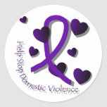 Domestic Violence Awareness Classic Round Sticker