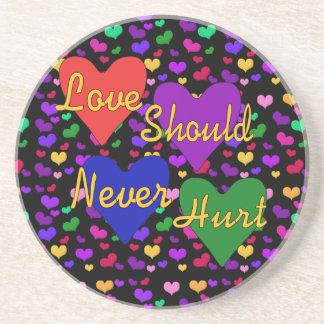 Domestic Violence Awareness Beverage Coaster