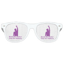 Domestic Violence awareness glasses