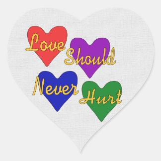 Domestic Violence Awareness Heart Sticker