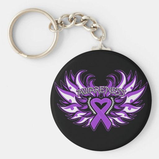 Domestic Violence Awareness Heart Wings Key Chains