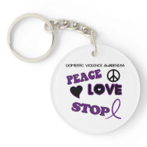 Domestic Violence Awareness Keychain