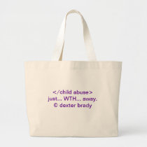 domestic violence awareness... large tote bag