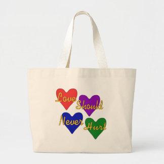 Domestic Violence Awareness Large Tote Bag