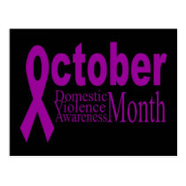 Domestic Violence Awareness Month Postcard