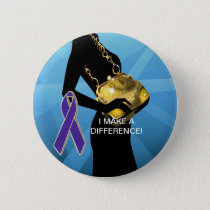 DOMESTIC VIOLENCE AWARENESS PINBACK BUTTON