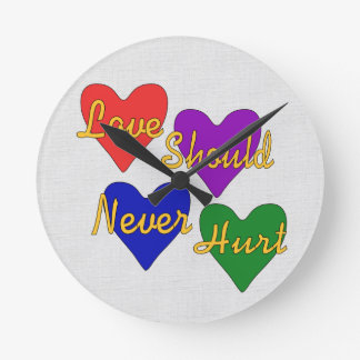 Domestic Violence Awareness Round Clock