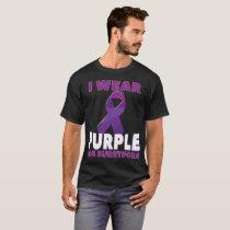 Domestic Violence Awareness Shirt Purple Ribbon