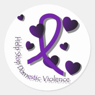 Domestic Violence Awareness Classic Round Sticker