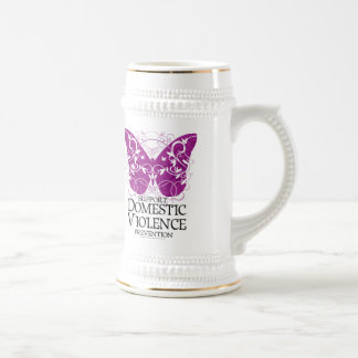 Domestic Violence Butterfly Beer Stein