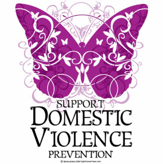 Domestic Violence Butterfly Cutout