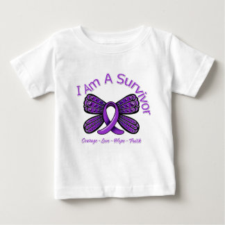 Domestic Violence Butterfly I Am A Survivor Baby T-Shirt