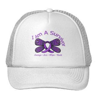 Domestic Violence Butterfly I Am A Survivor Trucker Hat
