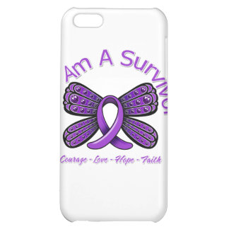 Domestic Violence Butterfly I Am A Survivor iPhone 5C Cases