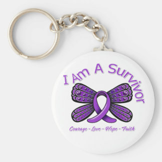 Domestic Violence Butterfly I Am A Survivor Keychain