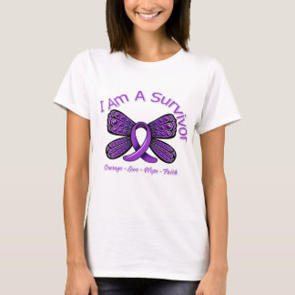 Domestic Violence Butterfly I Am A Survivor T-Shirt