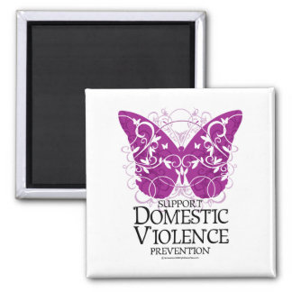 Domestic Violence Butterfly Magnet