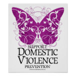 Domestic Violence Butterfly Poster