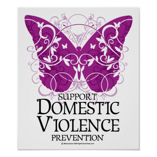 Domestic Violence Butterfly Print