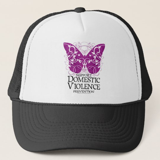 Domestic Violence Butterfly Trucker Hat