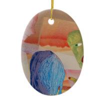 Domestic Violence Ceramic Ornament