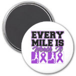 Domestic Violence Every Mile is Worth It Fridge Magnet