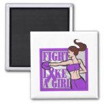 Domestic Violence Fight Like A Girl Boxer Fridge Magnet