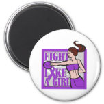 Domestic Violence Fight Like A Girl Boxer Magnets