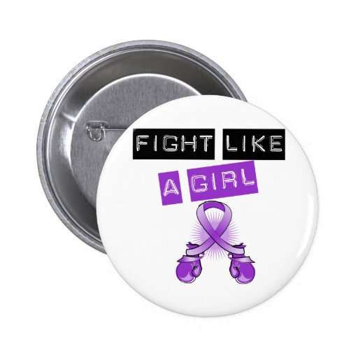 Domestic Violence Fight Like A Girl 2 Inch Round Button