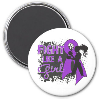 Domestic Violence Fight Like A Girl Grunge Refrigerator Magnet