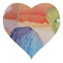 Domestic Violence Heart Sticker